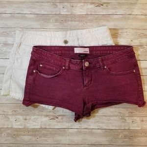 Lot of 2 Twill Shorts size 2 in EUC